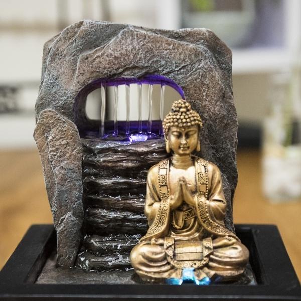 Grossiste fontaine bouddha mur eau sunchine - Fontaine zen d interieur nature et decouverte ...