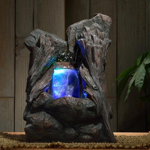 Fournisseur fontaine nature bois zen zen 39 light - Fontaine d interieur lumineuse ...