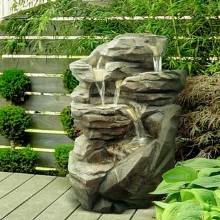Fournisseur Grossiste Fontaine Jardin XL Cascade Pierre   Zen\'Light