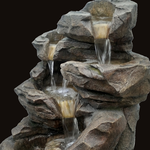 fournisseur grossiste fontaine jardin xl cascade pierre zen 39 light On fontaine de jardin niagara