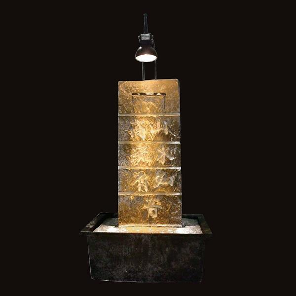 fournisseur importateur fontaine mur d 39 eau zen 39 light. Black Bedroom Furniture Sets. Home Design Ideas
